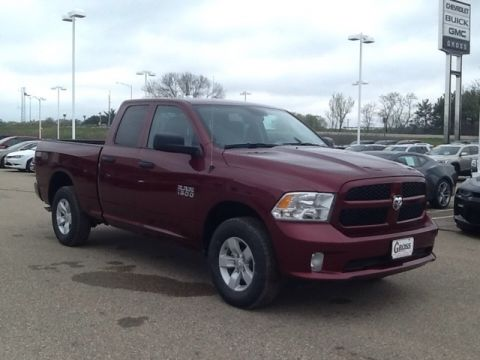 "NEW 2018 RAM 1500 EXPRESS QUAD CAB 4X4 6'4"" BOX"